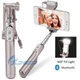 Ручка Monopod Bluetooth дистанционная Extendable Selfie с отражательными зеркалом & светом для телефона