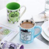 Flor que pinta a caneca cerâmica da sopa do chá do café com punho