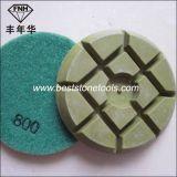 Almofada de polonês seca molhada do diamante do tufão para o assoalho concreto