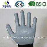 раковина полиэфира 13G с покрынными нитрилом перчатками работы (SL-N115)