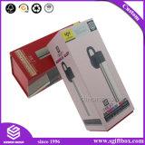 Los accesorios electrónicos de la cartulina plegable del diseño simple fijaron el rectángulo de empaquetado del regalo con insignia impreso