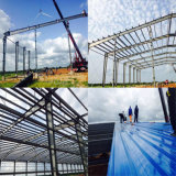 Le Ghana a préfabriqué l'entrepôt de structure métallique avec 6000m2