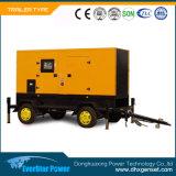 Diesel ajustado de geração elétrico do gerador de Genset do reboque portátil da produção de eletricidade