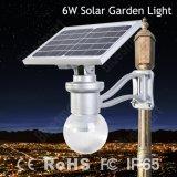 la luz de luna solar 6W integró todos en una luz solar del jardín del LED para la iluminación del jardín