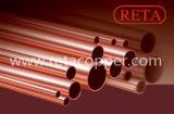 Gerades kupfernes Rohr H80 durch Reta
