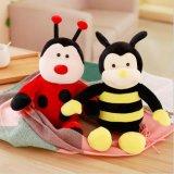 다채로운 채워진 꿀벌 견면 벨벳 장난감