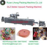 Voll automatische kontinuierliche Meeresfrucht-vakuumverpackende Maschine der Ausdehnungs-Dlz-320