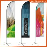 Unterschiedliche Größe gedruckte Bildschirmanzeige-Fliegen-Strand-Markierungsfahne