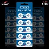AG6 1.5V 33mAhアルカリボタンのセル電池