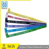 Firmenzeichen gedruckter gesponnener Festival-kundenspezifischer GewebeWristband für Ereignis