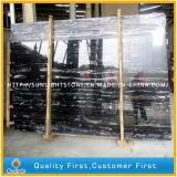 中国の床タイルおよびWorktopsのための黒い銀製のドラゴンの大理石の平板