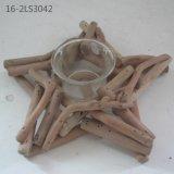 Especial de madera natural para Deocration y regalo de candelabros