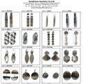 Oorringen van uitstekende kwaliteit van de Steen van de Kleur van de Oorring van de Manier de Zilveren (E6662)