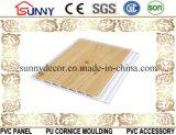 Cor de madeira painel de parede plástico laminado do teto do PVC do painel do PVC, Cielo Raso De PVC