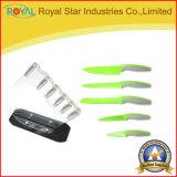 홀더를 가진 스테인리스 식칼 놓인 공용품 또는 요리사 또는 저미거나 과일 칼