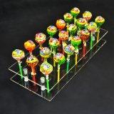21의 구멍 명확한 아크릴 케이크 대중 음악 Lollipop 전시