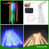 10PCS / Set 360 LED imperméable à l'eau solaire Meteor Shower Tubes de pluie LED Light Christmas Valentine Wedding Decoration Fairy String Lights