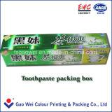 Vakje van het Document van de douane het Embleem Afgedrukte, het Vakje van de Verpakking van de Tandpasta
