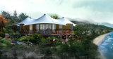 Camera vivente del contenitore di legno della decorazione della tenda di lusso di festa