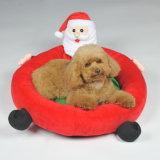 O coxim do cão do Natal do projeto reuniu bases redondas do animal de estimação de Papai Noel