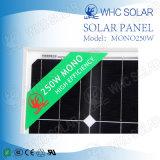 célula de 250W picovoltio mono con 10 años de panel de la vida SLA
