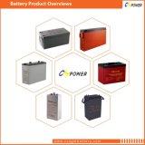 batería profunda del ciclo del AGM de la batería del gel 12V100ah para la batería Cg12-100 de la potencia de la UPS de la energía solar