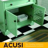 新しい優れた卸し売りアメリカの簡単な様式の純木の浴室の虚栄心の浴室用キャビネットの浴室の家具(ACS1-W53)