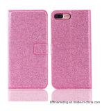 iPhone Samsung аргументы за сотового телефона кожаный бумажника PU яркия блеска передвижное