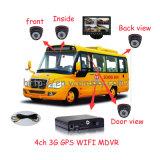カメラとの/証明書が付いているモニタとのスクールバス移動式DVR/3G 4CH Mdvr/