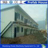 Casa móvel da casa modular pré-fabricada moderna luxuosa da casa da construção de aço clara
