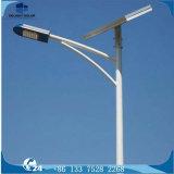 Lámpara de calle solar galvanizada octagonal blanca caliente de poste Bridgelux LED
