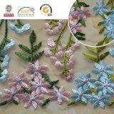 Stof van het Kant Polyster van de Bloem van Blue&Pink de Gevoelige voor Party&Wedding C10011