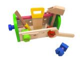 Brinquedo ajustado da caixa de ferramentas de madeira de DIY 13PCS para miúdos e crianças