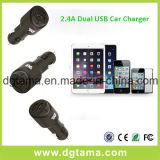 5V 2.4A는 접합기 USB 2 포트 차 담배 충전기 이중으로 한다