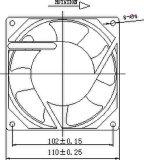 115/200/220/230V 110X110X38mm Wechselstrom-axialer Ventilator mit Zustimmungen