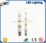 Luz de bulbo de la bombilla LED del filamento LED del estilo del tubo