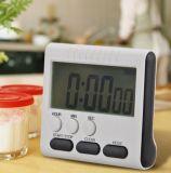 Grand compte de rupteur d'allumage de cuisine d'affichage à cristaux liquides Digital vers le haut en bas d'horloge d'alarme 24 heures avec le stand Fuli