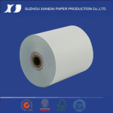papel sin carbono blanco/del color de rosa Rolls de 2ply