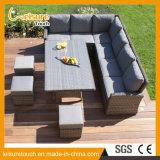 Insieme lungo del sofà del rattan di vimini del salotto della mobilia di svago del patio del giardino