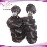 8A螺線形の巻き毛のペルーのRemyのバージンの人間の毛髪の拡張