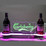OEM PlexigalssのワインラックLEDアクリルのアルコール飲料のワイン・ボトルの陳列台