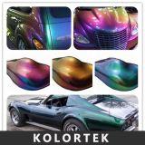 Los pigmentos autos de la pintura, efecto de la rotación del color pigmentan a surtidor