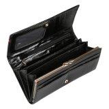 Портмоне муфты бумажника женщин неподдельной кожи бумажника крокодиловой кожи высокого качества черное малое для повелительницы