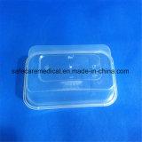Rectángulo de almuerzo plástico hermético transparente de Bento del embalaje de la piel de los PP