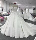 Alineada de boda del tren de la catedral del vestido de la muestra de Aoliweiya