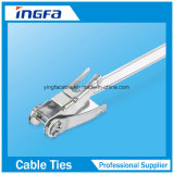 Flügel-Verschluss-Typ Kleber-überzogene Kabelbinder in Hochleistungs