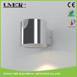 1.5W luz al aire libre de la pared del jardín del panel solar del acero inoxidable LED