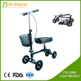 Motorino pieghevole del camminatore del ginocchio di handicap di sanità con il supporto del ginocchio