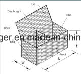 Gabion 상자 또는 Gabion 6각형 철사 그물세공 또는 바구니