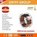 Fil de soudure stable lisse de MIG de la Chine d'arc Aws Er70s-6 (boisseau de panier en métal)